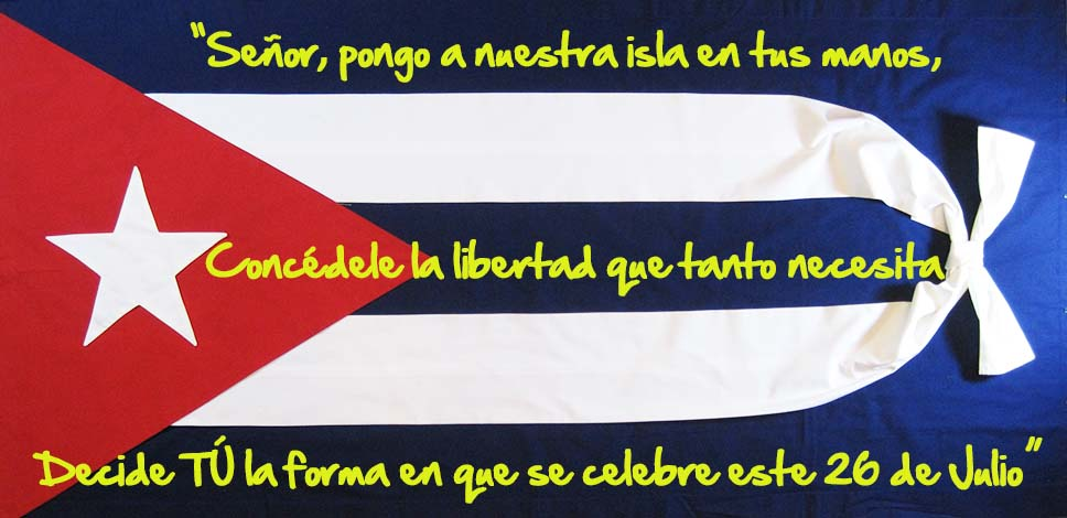 Bandera Cubana con Oración