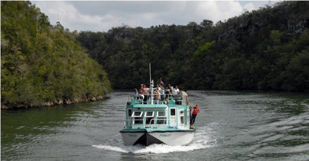 Embarcación de Recreo en Río Canimar, Matanzas.