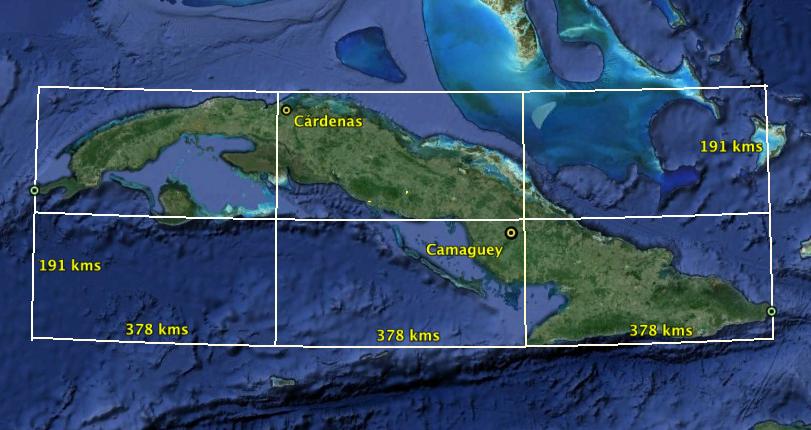 Cuba dividida en 3.
